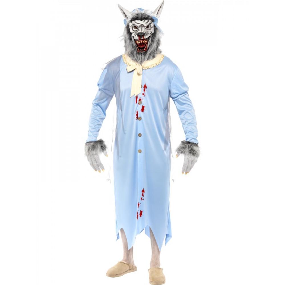 989912e2f6bb Travestimento carnevale Halloween adulto lupo Cattivo cappuccetto ...