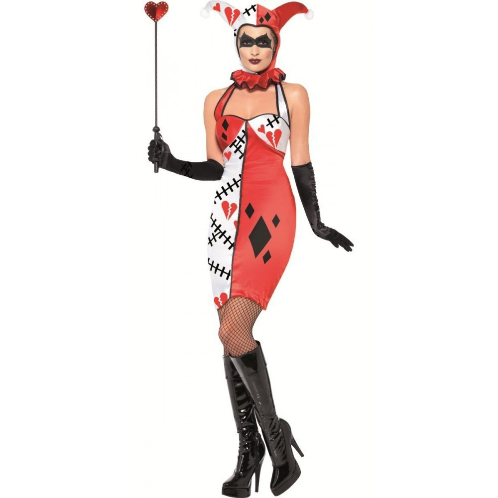 Travestimento carnevale halloween donna joker giullare for Gonfiabili halloween