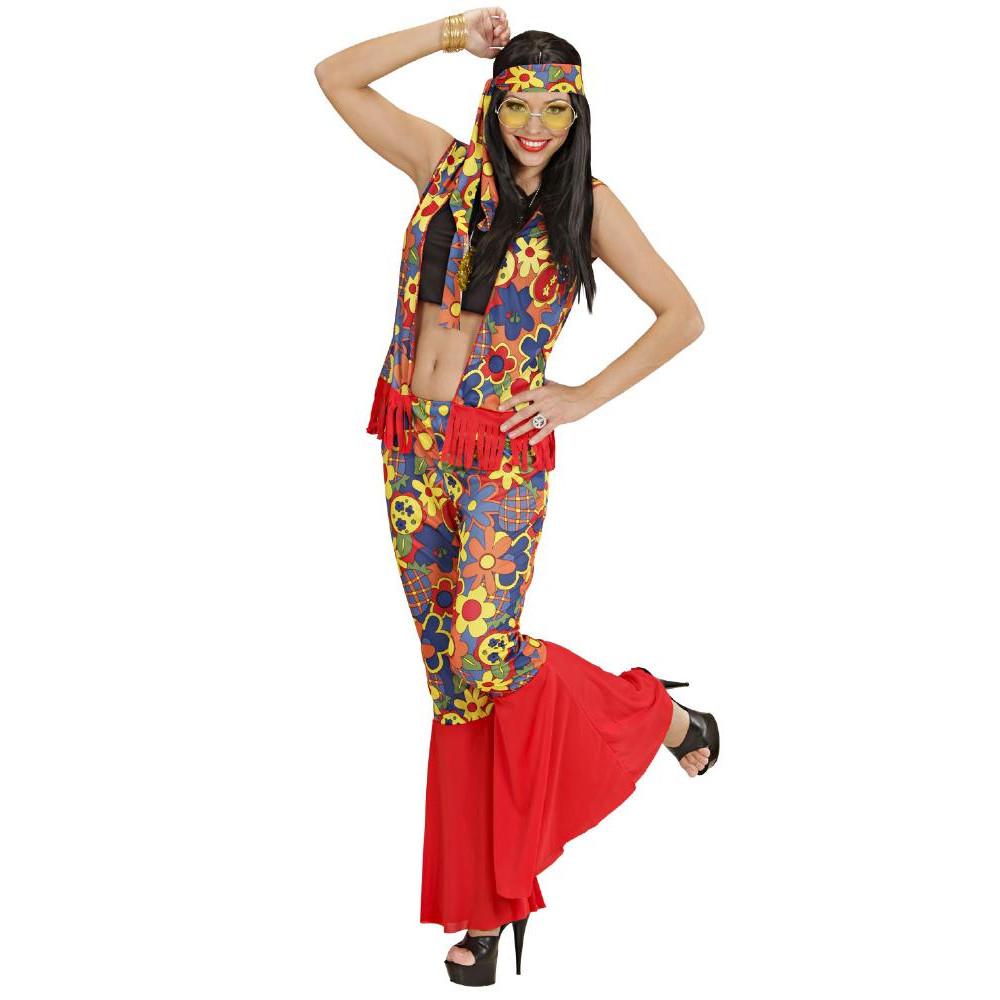 Vestito Abito Xqwbinxr Carnevale Donna Hippie 60 Anni VUzpqSMG