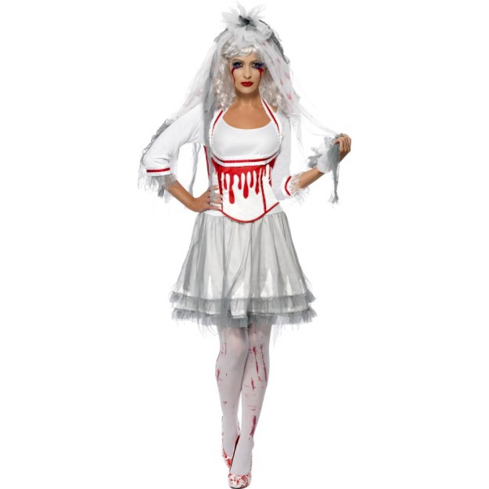 costume halloween donna sposa horror carnevale 17064. Black Bedroom Furniture Sets. Home Design Ideas