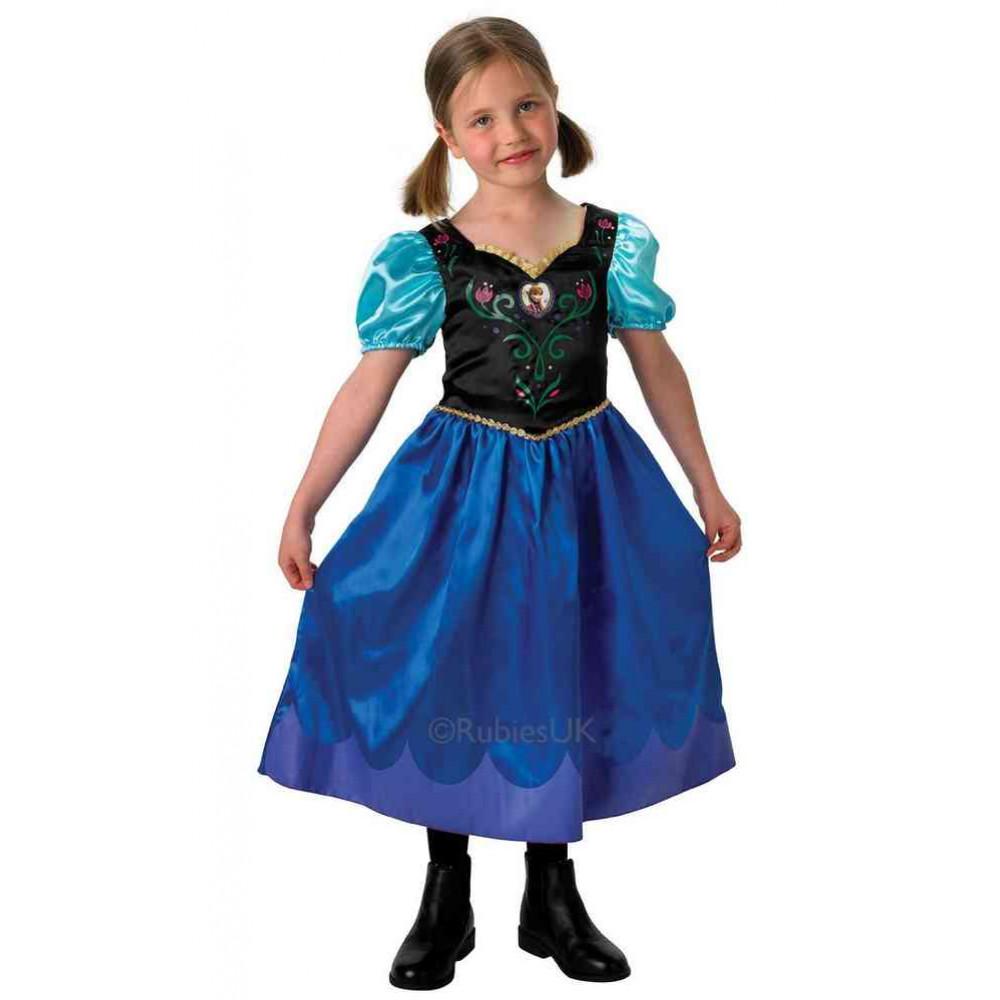 spesso Costume Carnevale Principesse Disney Bambina Anna di Frozen *02255 FD26