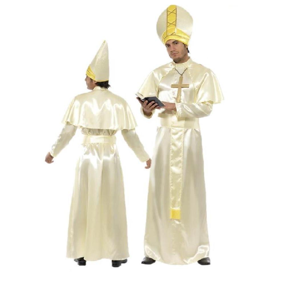 Costume Carnevale uomo Completo travestimento Adulto Papa