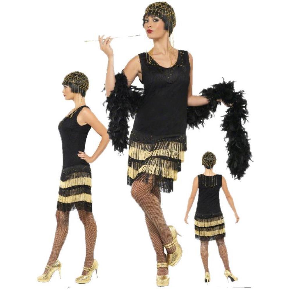 Costume Donna Charleston Nero Abito 203016213 Carnevale Anni CtrsQhdx