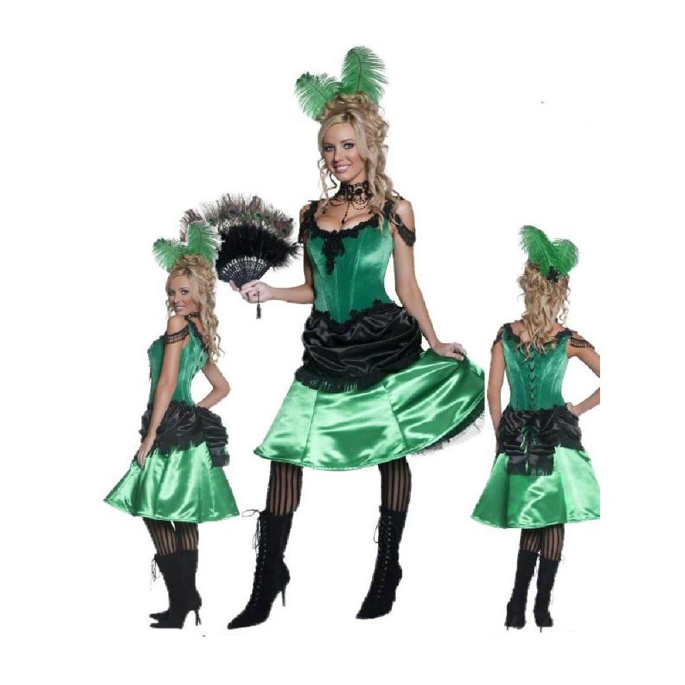 917a085597 Vestito Donna Saloon Far West, Abito Carnevale Western ...