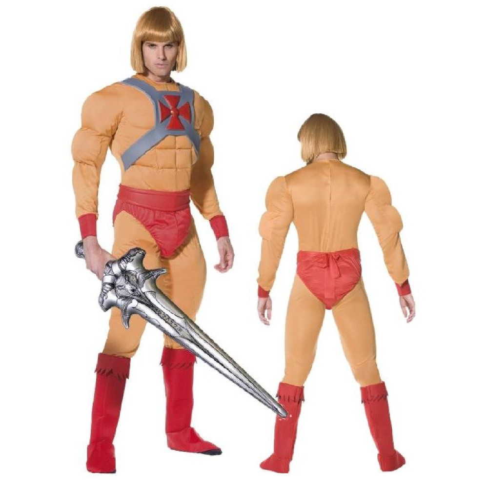 Costume carnevale cartoni animati uomo muscle he man adam