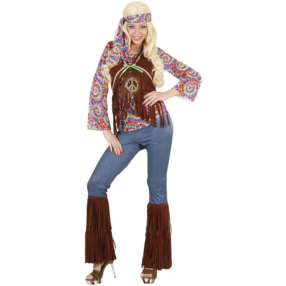 Abito Carnevale , Vestito Hippie Donna Anni 60 ...