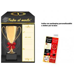 Gadget per Festa Laurea, Trofeo al Merito  Personalizzabile  Effettoparty.com