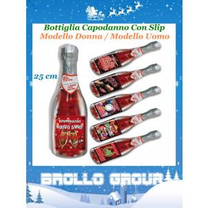Bottiglia Capodanno Con Slip Rossi Uomo / Donna