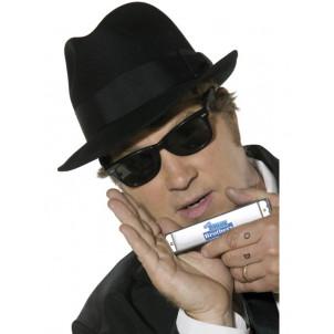 Kit Blues Brothers Cappello Armonica occhiali da sole cravatta 30615 *08472