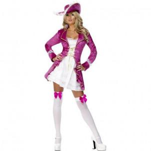 CostumI Carnevale travestimento smiffy's Donna Sexy Pirata Rosa *12549