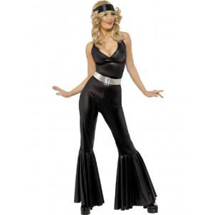 Costume Carnevale Donna Disco Fever Discoteca Anni 70 PS 12349
