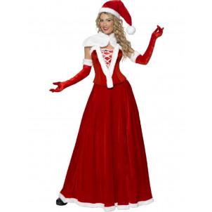Costume travestimento Donna Babbo Natale vestito Santa Claus smiffys *09937 pelusciamo.com