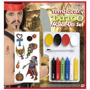 Set Make up Pirati, Trucco Bambini Tatoo  Bucanieri EP 00115