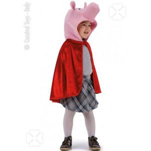 Costume Carnevale Bimba bambina Maialino Peppa | pelusciamo.com