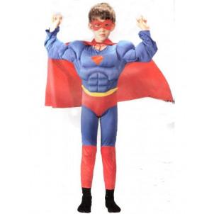 Costume carnevale Superman Con Muscoli Bimbo supereroe | pelusciamo.com