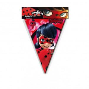 Accessori Festa Compleanno Ladybug Bandierine    | Effettoparty.com