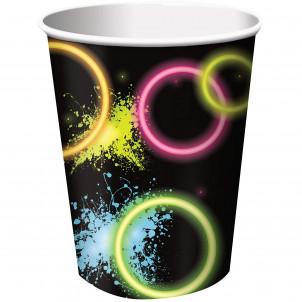 Accessori Festa Compleanno  Bicchieri Fluo Glow  | Effettoparty.com