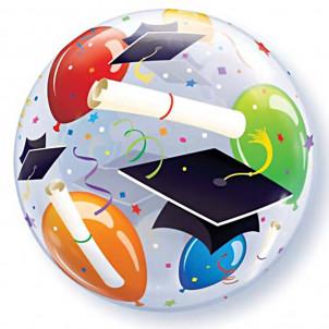 Palloncino Bubbles 56 cm   Fantasia Festa laurea  *13602 | Effettoparty.com