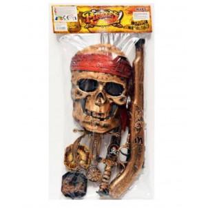 Kit Accessori Pirati Maschera e Armi Carnevale Pirata EP 26571 Effettoparty store Marchirolo