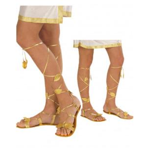 Sandali Oro per Costume Carnevale Romana, Egiziana, Greca e Fatina   | pelusciamo store
