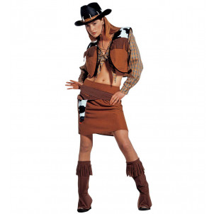 Costume Carnevale Donna Abito Western CowGirl , Cow Girl EP 02080