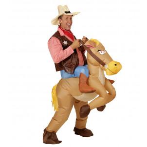 Costume Carnevale Adulto Far West, Cavallo Gonfiabile PS 22726 Autogonfiante Effettoparty Store Marchirolo