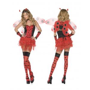 Costume Carnevale travestimento Donna Coccinella completo