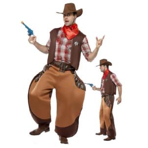 Costume Carnevale travestimento uomo John Cowboy one size Smiffys 31080 *07386