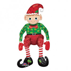 Elfo in Foil 73cm Ad Aria , Palloncino Arredo Festa Natale *12597 | Effettoparty.com