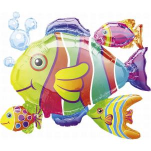 Palloncino in  Mylar Forma di Pesce Grande 77 cm  *02918  Effettoparty.com