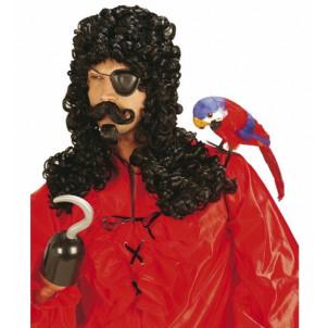 Parrucca uomo capitan uncino baffi e pizzo accessori Costume Carnevale *20011 effettoparty store