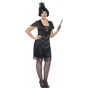 Vestito Charleston Costume Carnevale Donna PS 25337 Taglie Grandi  Pelusciamo Store Marchirolo