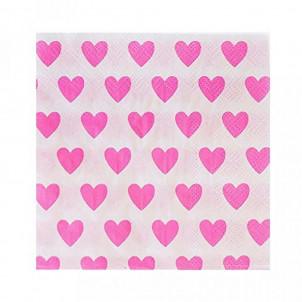 Accessori Festa San Valentino 20 Tovaglioli Carta Cuori | Effettoparty.com
