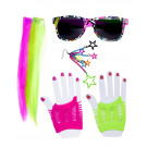 Set 80 Girl Neon Accessori Per Costume Carnevale Anni 80 EP 26513 Effettoparty Store