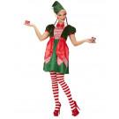 Costume Elfo Donna Natalizio Aiutante Babbo Natale EP 25874 Effettoparty Store Marchirolo