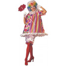 Costume Carnevale Donna Pagliaccio clown travestimento Betty Bride