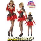 Costume Carnevale halloween Donna  Vamp Glitter smiffys *17116 effettoparty.com
