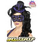 Accessori Festa Burlesque, Cappellino e mascherina Viola  | Effettoparty.com