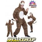 Costume Carnevale Adulto Travestimento Animale Coccodrillo *20001 effettoparty store