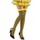 Calze Parigine a Righe Ape Giallonere Per Costume Carnevale PS 10110 Pelusciamo Store Marchirolo