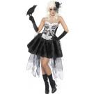 Costume Halloween Carnevale Donna Vestito Scheletro, Teatro Macabro | pelusciamo.com