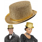 Cappello Cilindro Lurex Oro , Accessori Costume Carnevale EP 09300 Effettoparty Store Marchirolo