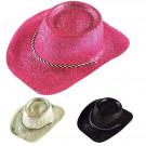Cappello Cowboy Glitter Cowgirl Gadget Festa Capodanno EP 19335 Effettoparty Store Marchirolo