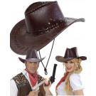 Cappello Cowboy Marrone Scuro Travestimento Carnevale EP 26410 Effettoparty store Marchirolo
