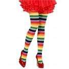 Collant Arcobaleno A Righe Per Costume Carnevale PS 10115 Pelusciamo Store Marchirolo