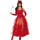 Costume Halloween Carnevale Donna Diavolessa Galmour, Abito Diavolo | Pelusciamo.com