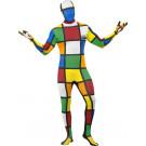 Vestito carnevale Travestimento Cubo di Rubik, Costume Seconda Pelle | Effettoparty.com