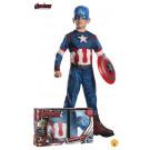 Costume Carnevale Capitan America Con Scudo  The Avengers  EP 26013 Effettoparty Store Marchirolo