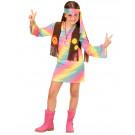 Costume Carnevale Bimba Figli Dei Fiori Travestimento Hippie EP 26177 Effettoparty Store Marchirolo