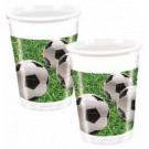 Confezione Bicchieri in Plastica Campo Calcio  | Effettoparty.com